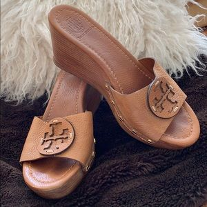 Tory Burch Patti Wedges - Size 8 1/2.
